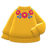 In-game image of Flower Sweater