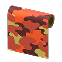In-game image of Orange Camo Wall