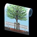 tree lined wall.13cee01